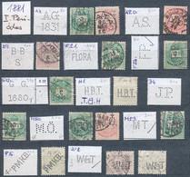 O Magyar Perfin Gyűjtemény 1881-1953 1.247 Db Céglyukasztásos Bélyeg 2 Berakóban (Lente Közel 50.000 P) / Hungarian Perf - Unclassified