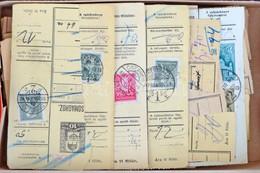 1930-1944 200 Db Háború Előtti Csomagszállító Szelvény Dobozban / 200 Pre-war Parcel Card Cutting In A Box - Unclassified