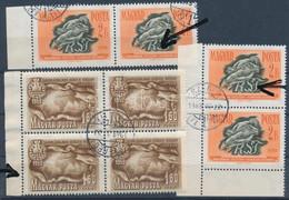 O 1950-1958 3 Klf. Lemezhibás Bélyeg - Sakk és Takarékosság és Biztosítás / 3 Klf. Stamps With Plate Variety (10.950) - Unclassified