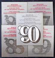 ** 1986-1990 5 Klf Magyar Bélyegkincstár / 1986-1990 Year Books - Unclassified
