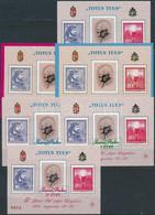 ** 1991-2000 II. János Pál Pápa Tiszteletére Kiadott Emlékívek Gyűjteménye, összesen 26 Különböző / Souvenir Sheet Colle - Unclassified