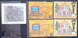 ** Emlékív Gyűjtemény Berakóban, Listával, Benne Néhány Ajándék Blokk (187.850) / Collection Of Souvenir Sheets In Stock - Unclassified