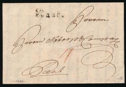 """1788 Portós Levél / Unpaid Cover """"Raab"""" - Pest - Unclassified"""