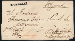 """1825 Portós Levél / Unpaid Cover """"B.GYARMAT"""" - Rétságh - Vácz - Pest - Unclassified"""