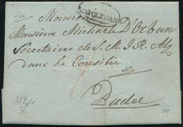"""1828 Portós Levél / Unpaid Cover """"gR: / TAPOLTSAN"""" - Felső Buda - Unclassified"""