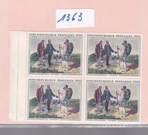 Un Bloc France De 4  Timbres Neufs ** N° 1363    Tableau De Courbet    1962 - Neufs