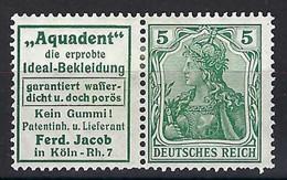 ⭐ Allemagne - Timbre Publicitaire - Michel N° W 2 . 12 * - Neuf Avec Charnière - Aquadent -> R 12 - 1911 / 1912 ⭐ - Booklets