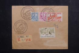 TUNISIE - Enveloppe De La Journée Du Timbre De Tunis En Recommandé En 1947 - L 73119 - Covers & Documents
