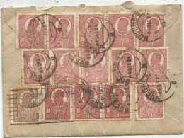 ROMANIA 10 BANIX13+25B LETTRE COVER BUCURESTI 1921 TO FRANCE - 1918-1948 Ferdinand, Charles II & Michael