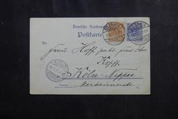 ALLEMAGNE - Entier Postal + Complément De Sulzbach Pour Cöln En 1901 - L 73126 - Ganzsachen