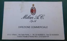 Milan, Direzione Commerciale  # Bigliettino Da Visita - Trading Cards