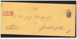 L 084  -  Allemagne  :  Mi  60  (o)  Seul Sur Lettre Recommandée  De  Ratibor  Pour Gnadenfeld Du 25-10-00 - Briefe U. Dokumente