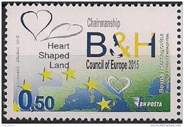 2015  BOSNIA SARAJEVO  Bosnien- Herzegowina  Mi. 667**MNH  Vorsitz Von Bosnien Und Herzegowina Im Europarat - 2015