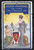 """France  Vignette """" Foire De Lyon 1er Mai -  1er Novembre 1914""""   Type 2  Neuf   B/ TB Soldé  ! ! ! - Tourisme (Vignettes)"""