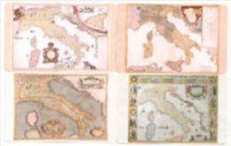 NUOVE  SERIE COMPLETA ( L' ITALIA E LE SUE MAPPE )  4 SCHEDE - Public Practical Advertising