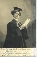 LA FEMME AVOCAT CARTE PRECURSEUR CIRCULEE 1904 - Andere