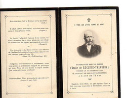 E 9 1910 Faire Part De Décès émile Lécluse-trévoedal Au Chateau De Ker-is-stum  En Finistère - Documentos Históricos