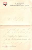 Lettre à En-tête Y.M.C.A, American Expeditionary Forces, 11 Novembre 1918 !, Armistice Quand Le Soldat Prend Position - Documentos Históricos
