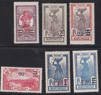 ⭐ Martinique - YT N° 111 à 116 ** - Neuf Sans Charnière - 1924 / 1927 ⭐ - Unused Stamps