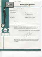 Lettre Commerciale - Manufacture De CHAUSSURES - Ets NOËL Frères - VITRE - 1970 - Textile & Clothing