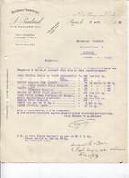 Facture - Fournisseur Matières Premières CRIN ETOUPE VARECH ... - Ets A.Paulard - PARIS 10è - 1919 - France