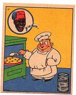 Rare Chromo Banania Ancienne VICA Pub Publicitaire De Y' A Bon Album Image Collection Chocolat Humour Caricature N° 47 - Otros