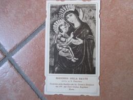 Madonna Della Salute Detta Di S.Gregorio Basilica Cosma E Damiano Roma Terz'Ordine Regolare Sagomata - Devotieprenten