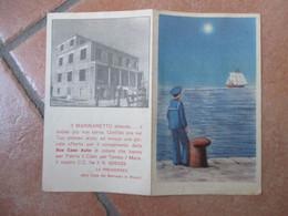 1956 Calendarietto Casa Del Marinaio RIMINI Casa Asilo Marinaretto - Calendari