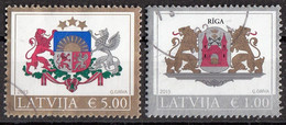 Lettonia 2015 Stemma Arms Riga  Latvija Viaggiato Used - Letland
