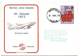 Hatfield 1973 - Aviation - Airbus A 300 B Maiden Flight - 1952-.... (Elisabetta II)