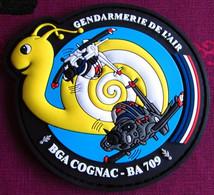 RARE Patch Insigne écusson PVC GENDARMERIE DE L'AIR BGA COGNAC BA 709 - Police & Gendarmerie