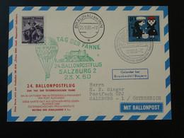 Carte Postcard Vol Flight Ballon Circus Knie Montgolfière Ballonpost Balloon Austrian Pro Juventute 1960 (ref 96071) - BRD