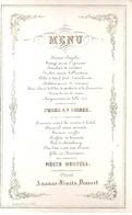 MENU-7 DECEMBRE 1859-205/135 MM-LITH.SELDENSLAGH MALINES - Porcelaine