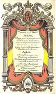 MENU SOCIETE ROYALE GRANDE HARMONIE 1863-LITH CARBOTTE FRERES-175/105 MM - Porcelaine