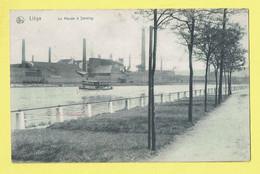 * Seraing (Liège - Luik - La Wallonie) * (Nels, Série Liège, Nr 122) La Meuse à Seraing, Bateau, Quai, Industrie Canal - Seraing
