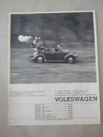 # ADVERTISING PUBBLICITA VOLKSWAGEN MAGGIOLINO / BEETLE CABRIOLET - 1969 - Werbung