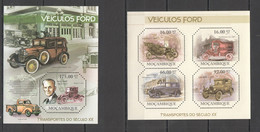 BC1103 2011 MOZAMBIQUE MOCAMBIQUE TRANSPORT CARS VEICULOS FORD 1KB+1BL MNH - Auto's