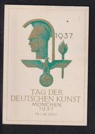 DR Festpostkarte Tag Der Deutschen Kunst München - Guerra 1939-45
