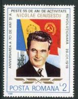 ROMANIA 1988 Birthday Of Ceausescu  MNH / **.  Michel 4429-34 - Nuevos
