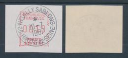 Frankreich FRAMA/SATAS-ATM  S01 92184 Seltenes Camp-Papier Dick/weiss, ATM O  - Zonder Classificatie