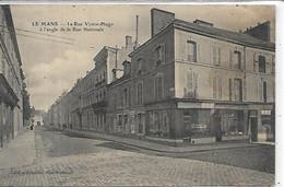 72, Sarthe, LE MANS, La Rue Victor Hugo à L'Angle De La Rue Nationale, Scan Recto-Verso - Le Mans