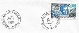 Timbres Sur Lettres 1991 N°408 MOZART Cote 7€ - Cartas
