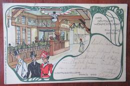 Paris - Exposition Universelle De 1900 - Litho Jrion - Das Deutsche Weinrestaurant P.H.C. Kons Berlin, Weltausstellung - Exhibitions
