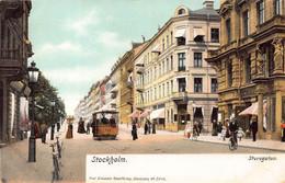 STOCKHOLM SWEDEN~STUREGATAN-TRAM 198~1900s AXEL ELIASSONS #3346 POSTCARD 49487 - Sweden