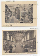 """2 CPSM - THE """"IRON"""" LIVRARY Et THE KING'S LIBRARY - British Museum (Bibliothèque - Bibliothèques) - Libraries"""
