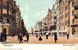 STOCKHOLM SWEDEN~BIRGER JARLSGATAN~1900s AXEL ELIASSONS #3350 POSTCARD 49488 - Sweden