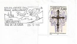 Timbres Sur Lettres 1996 N° 474 Croix De Saint Jaume Cote 2,50€ - Cartas