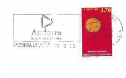 Timbres Sur Lettres 1996 N° 468 Basket-Ball Cote 10€ - Cartas