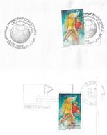 Timbres Sur Lettres 1998 N° 503 Et 507 (timbre Surchargé) Coupe Du Monde De Football Cote 8€ - Cartas