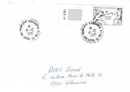 ANDORRE Timbres Sur Lettres 1981 N° 296 Cote 23€ - Cartas